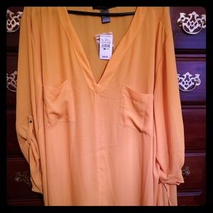 Plus Size Front and Side Split Shirt